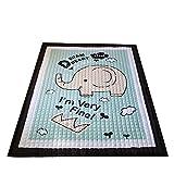 Regenbogen Einhorn Kinder Babys Straßenkarte Baumwolle Groß Weich Krabbeldecken| Spielbögen| Spielmatte| Spielteppiche für Kinderzimmer, 145 * 195cm (Elefant)