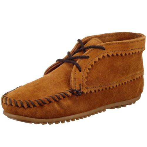 Minnetonka Suede Ankle Boot, Damen Kurzschaft Mokassin Boots, Braun (Brown 2), 40 EU (9 (Stiefel Indianer Mokassin)