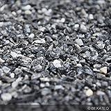 BEKATEQ BK-590 Marmorkies Naturstein, Grigio Carnico 25kg, rundgerieben, gewaschen, 3-5mm, Steinteppich