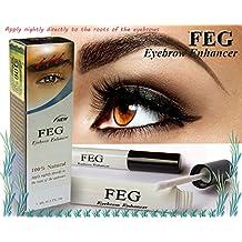 FEG - Serum 100% natural para mejorar el crecimiento, la longitud, el grosor, el largo de las cejas (FEG Eyebrow Enhancer is for increasing the growth including length, thickness and darkness of eyebrows.)