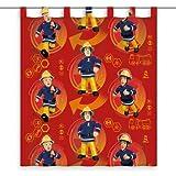 Herding Vorhang Feuerwehrmann Sam, Polyester, Rot, 160 x 140 cm Test