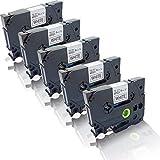 5x Schriftband kompatibel für Brother TZE-211 P-Touch D400 P-Touch D400AD P-Touch D400 Series P-Touch D400VP TZ211 laminiert TZ-211 6 mm x 8 m