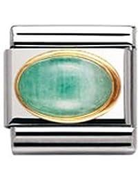 Nomination - 030504 - Maillon pour bracelet composable Mixte - Acier inoxydable et Or jaune 18 cts