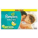 Pampers Baby Dry Größe 4 Maxi 7-18kg Giga Pack, 4er Pack (4 x 120 Windeln)
