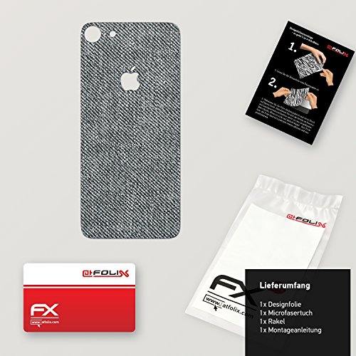 "Skin Apple iPhone 7 ""FX-Velvet-Black"" Designfolie Sticker FX-Denim-Grey"