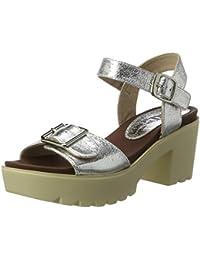 Xti Silver Metallic Ladies Sandals ., chaussures compensées femme