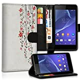 Portable style Wiko Bloom 2compartiments premium PU carte Portefeuille Étui à rabat en cuir avec fonction support pour Wiko Bloom 2–Design Flip mvc12