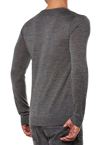 SELECTED Tower Merino Pullover Grau