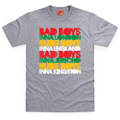 Bad Boys T-Shirt, Herren Grau Meliert
