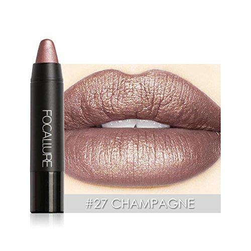 Lippenstift aus Metall, Lippenstift matt aus Metall Hot Nachhaltige