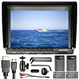Neewer NW74K 7 Inches Ultra HD 4K 1280x800 IPS Screen Camera Field Monitor with 2 Packs F550 Replacement Battery and 2 Pieces USB Battery Charger for Sony Canon Nikon Olympus Pentax Panasonic Cameras