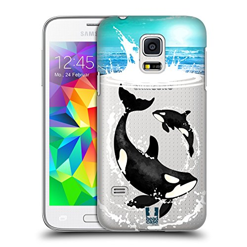Head Case Designs Orca Meerestiere Ruckseite Hülle für Samsung Galaxy S5 mini (Orca-duo)