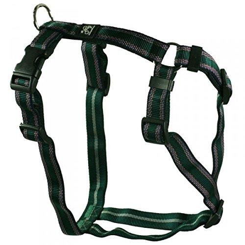 Feltmann Hundegeschirr - Soft-Nylonband, grün Muster, Bauchumfang 55-75 cm, 20 mm Bandbreite