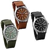 jewelrywe orologio da uomo al quarzo con cinturino in nylon, calendario semplice stile orologio, regalo per l uomo, 3 colori disponibili