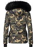 Navahoo Damen Winter Jacke Steppjacke Adele (vegan hergestellt) Camouflage Gr. M Test