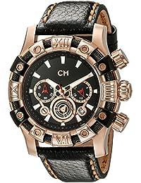 Carlo Monti Herren-Armbanduhr XL Arezzo Chronograph Quarz Leder CM122-322