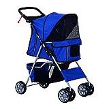 PawHut® Hundewagen Hundebuggy Pet Hunde Buggy Stroller Jogger Anhänger Blau