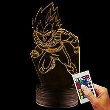 Dragon Ball Deko lámpara vegetariano Attack You (3d de discapacitados Illusion)