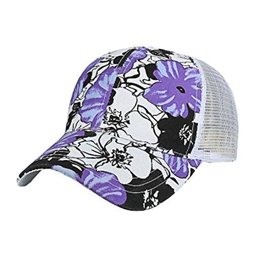 Damen Herren Baseball Caps,OYSOHE Neueste Sommer Mode Frauen Männer Einstellbare Bunte Blumendruck Baseball Hut Mesh Cap Schatten