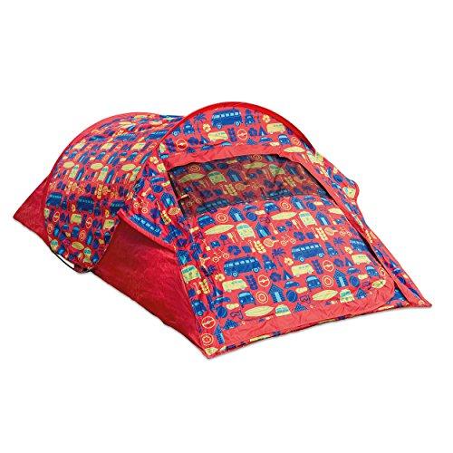 Board Masters Volkswagen Pop-Up-Campingzelt für Festivals - VW Bulli T1 Samba Bus - 1500mm Wasserfest - Zelt für 2 Personen