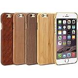GMYLE Funda iPhone 6s 6, Madera Natural Delgado Dura Delgado Funda - [Bambú]
