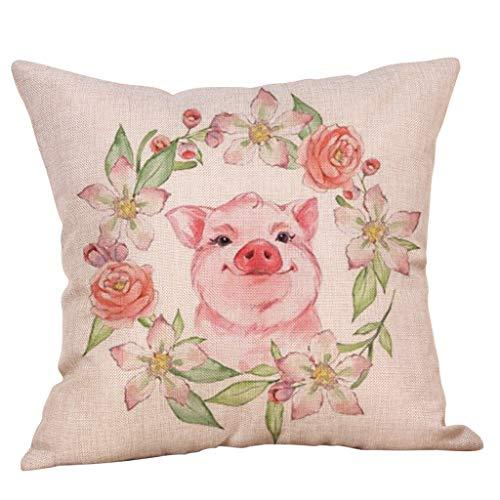 YueLove 45cm*45cm niedliche Tier Kissenbezug Sofa Taille werfen Home Decor (Kissen ist Nicht im Preis inbegriffen)