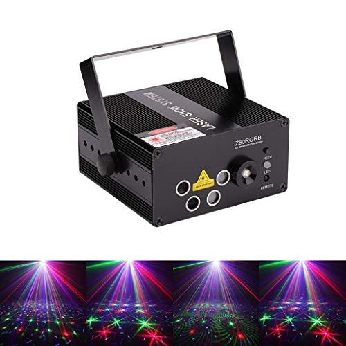 WTD! Smart RGRB Dance Party Disco Light, Remote Multi Color 80 Pattern Beam Spotlight, Sound Actived KTV Bar Pub Club 80 Pattern - Dj Laser Lights