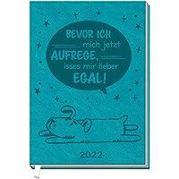 Trötsch Taschenkalender A7 Egal 2022: Soft Touch Terminkalender: Terminplaner Buchkalender