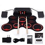 Sjqzba Silikonhandrolle elektronische Trommel Portable faltbare Handrolle Trommel Anfänger Schlagzeug für Kinder