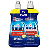 Finish Brillantante Additivo Lavastoviglie, Limone, 2 x 500 ml
