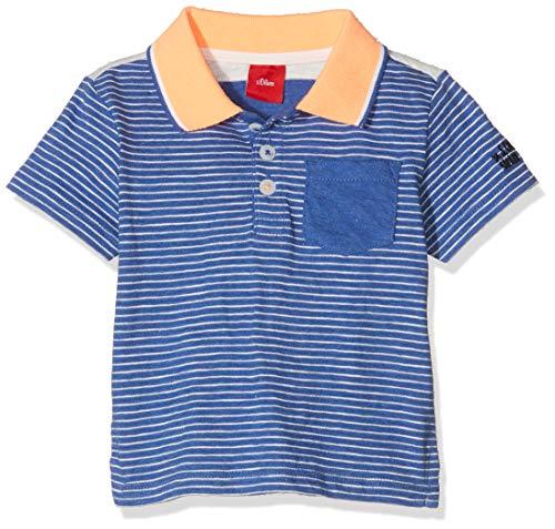 s.Oliver Baby-Jungen 65.904.35.5925 Poloshirt, Blau (Blue Stripes 55g4), (Herstellergröße: 74)