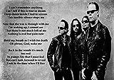 Metallica–One–Liedtext–Große Rock Metall Album Cover Design Musik Band beste Foto Bild Einzigartige Print A4Poster
