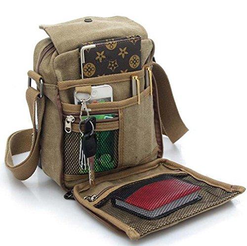 Unisex Umhängetasche Tasche für Reise Wenkend-Aktivitäten Picknick Outdoor Sport - Kaffee Schwarz