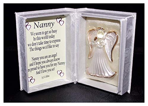 Cellini Gifts Nanny You Are An Angel Crystal Glass Poem Gift For Any Occasion Birthday