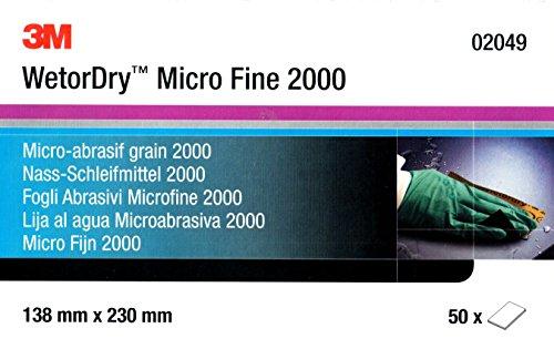 3M Wetordry™ 02049 Schleifpapier Micro Ende 2000 - 10 - Schleifpapier Wetordry 3m
