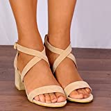 Shoe Closet Ladies Nude Faux Suede Barely There Low Heeled Peep Toes Strappy Sandals