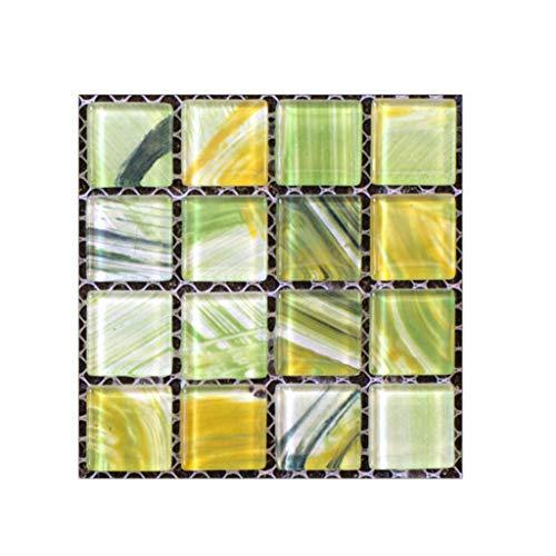 erthome 20 Stücke Selbstklebende Fliesenboden Wandtattoo Aufkleber DIY Küche Badezimmer Dekor