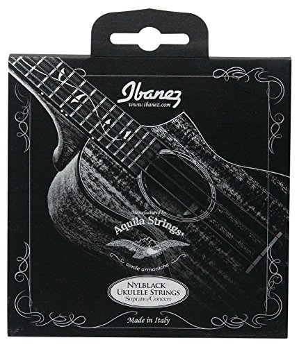 Ibanez NBUKS4 Ukulele Saite Satz (Aquila String, 024-026, Sopran, Konzert) schwarz nylon