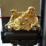 Auto Perfume Bloquear Base Coche Interior Decoración Metal Oro Maitreya Buda , SUV Ambientador Asiento Decoración Camión Tablero Adornos Casa Arte