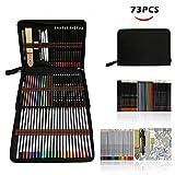 Professionnel Colore Crayons de Dessin Art Set - Malette dessin Inclus pastel, aquarelle, dessin, Charbon de bois,métallique crayons de couleur et materiel dessin,Idéal Cadeaux pour Artiste Adulte Enfant