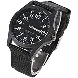 Amazmall Mens Military Sports Watch Date Stainless Steel Analog Army Quartz Wrist Watch