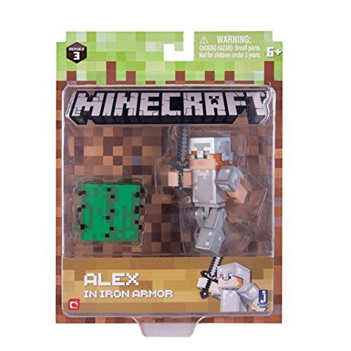 Minecraft 16486 Alex mit Eisenrüstung mit Accessoires