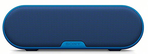 Sony SRS-XB2 Altoparlante Wireless Portatile, Stereo, Extra Bass, Bluetooth 3.0, NFC, Resistente all'Acqua, Blu