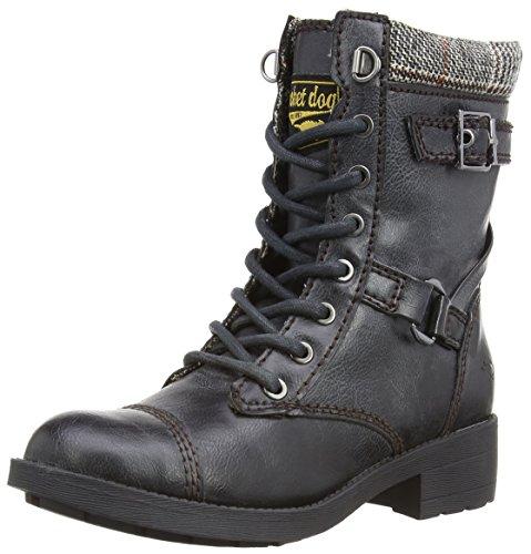 Rocket Dog THUNDER Damen Biker Boots Schwarz (Black)