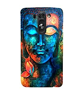 FUSON Buddha Colorful Statue Painting 3D Hard Polycarbonate Designer Back Case Cover for LG G3 S :: LG G3 S Duos :: LG G3 Beat Dual :: LG D722K :: LG G3 Vigor :: LG D722 D725 D728 D724