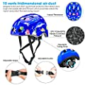 FishOaky Kids Bike Helmet, Child Motorbike Helmet, Adjustable Lightweight Safety Bicycle Helmet for Toddler and Youth, Ages 3-12 Year Old Girls/Boys, for BMX Kiddimoto Riding Scooter Mutli-Sport from FishOaky