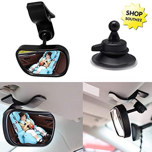 Lomio- Baby Bambino Vista posteriore Specchio, infrangibile e regolabile- Un ottimo strumento per prendersi cura dei bambini durante la guida, clip adatto a tutti i tipi di vetture