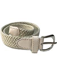Niños–cinturones para niños niñas–lienzo Stretch elástico tejido/Tejido correas talla única