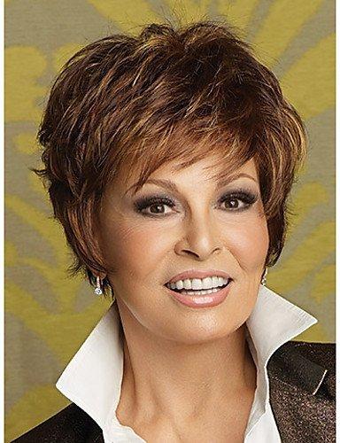 Mode kurze natürliche gewellte synthetische Perücken für Frauen mehrfarbig (Halloween Haar Medusa)