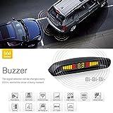 Steelmate Ebat C2 - Asistente de Aparcamiento Parking Pantalla LED Reverso Radar Alerta Sistema con 4 Sensores para Coche Vehículo